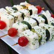 Schafskäsespieß mit Zucchini und Tomaten - metabolic balance geeignet