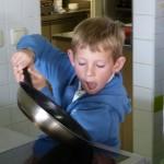 Kinder an lernen gesund kochen und backen.