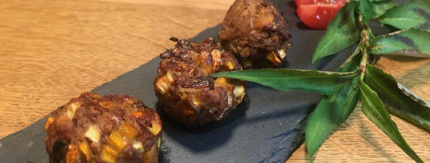 Paleo Bällchen mit Shiitake-Pilzen