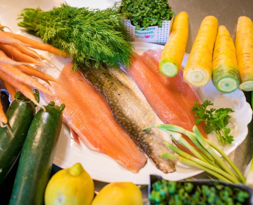 Zuaten für Saiblingsfilet auf Gemüsenudeln Rezept - ConnyPURE