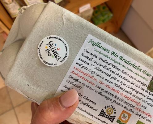 Regional einkaufen - Bio-Eier vom Joglbauer Obertrum