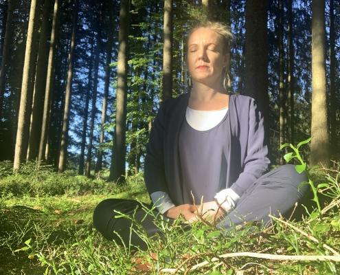 Meditieren im Wald - Natur genießen